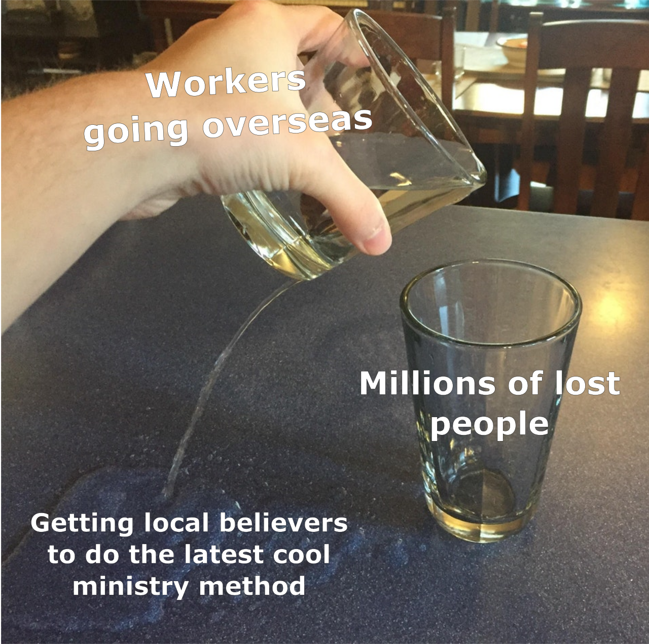 Glass Pouring Meme